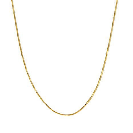 "Michael Anthony® 10K Gold 0.73mm 16"" Box Chain Necklace"