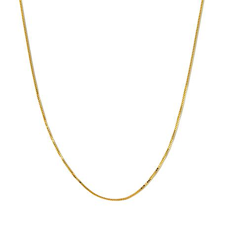 "Michael Anthony® 10K Gold 0.73mm 18"" Box Chain Necklace"