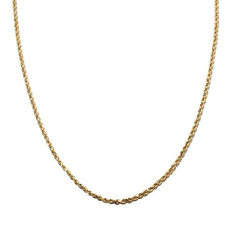 "Michael Anthony Jewelry® 10K 16"" Radiant Rope Chain"