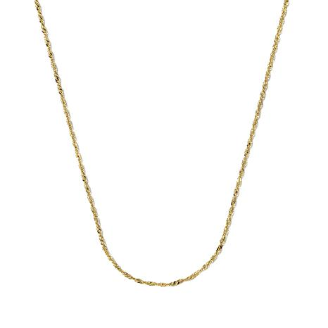 "Michael Anthony Jewelry® 10K 18"" Singapore Chain"