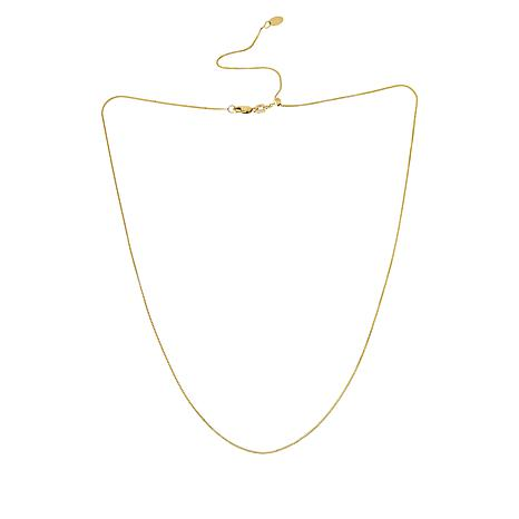 "Michael Anthony Jewelry® 10K 22"" Adjustable Box Chain Necklace"
