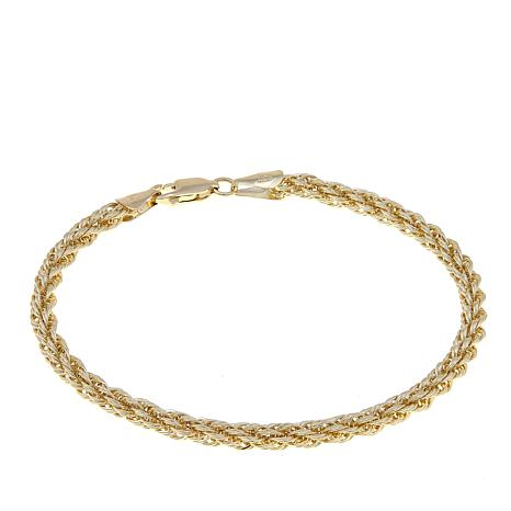 Michael Anthony Jewelry 10k 3 5mm Rope Chain Bracelet
