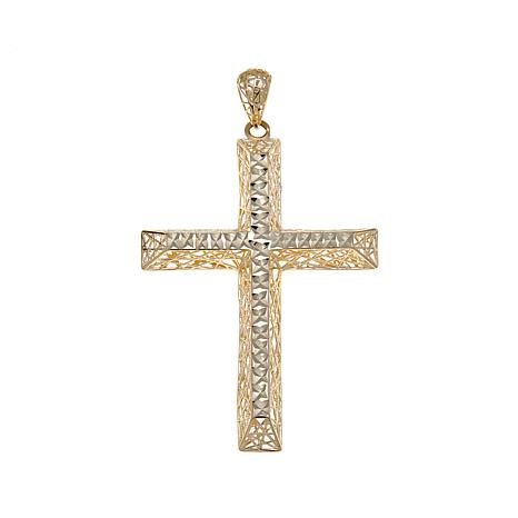 Michael Anthony Jewelry® 10K 3D Cut-Out Cross Pendant