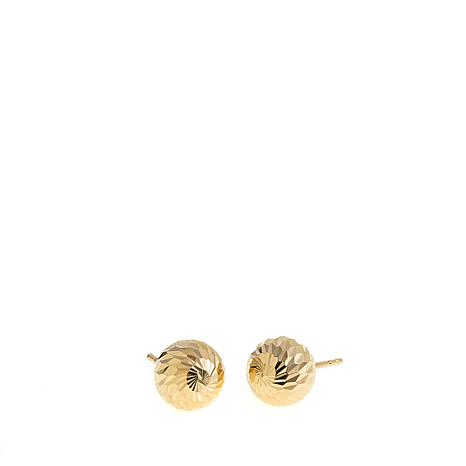 Michael Anthony Jewelry® 10K 8mm Swirled Ball Earrings