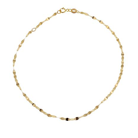 "Michael Anthony Jewelry® 10K Brillante Chain 9"" Anklet"