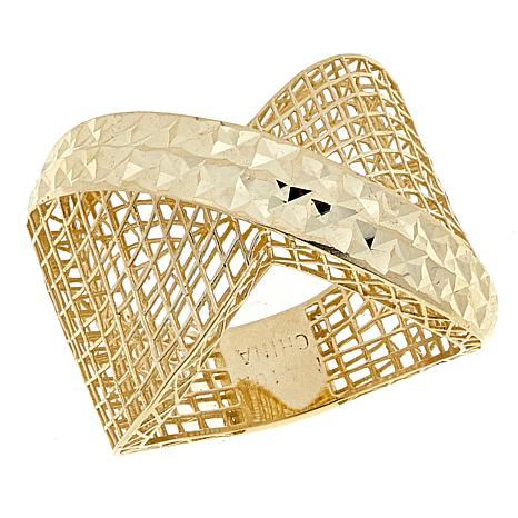 Michael Anthony Jewelry® 10K Criss-Cross Lattice Band Ring
