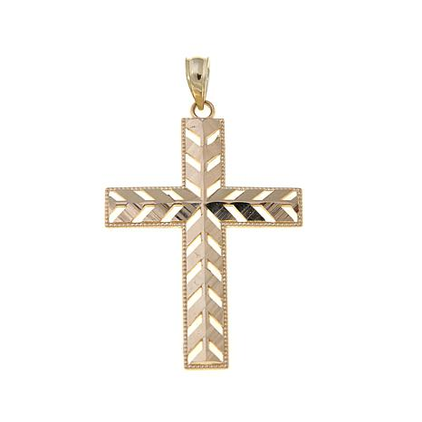 Michael Anthony Jewelry® 10K Cut-Out Cross Pendant