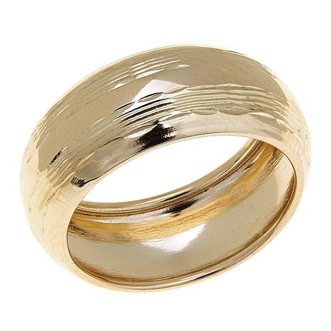 Michael Anthony Jewelry® 10K Diamond-Cut 8mm Band Ring
