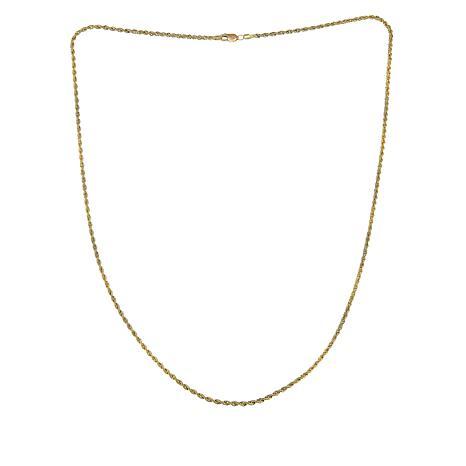 "Michael Anthony Jewelry® 10K Diamond-Cut Glitter Rope 20"" Necklace"