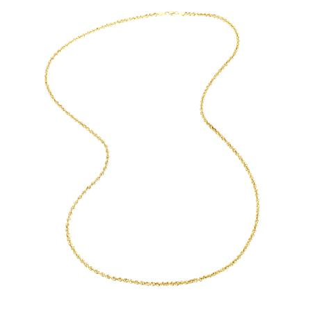 Michael Anthony Jewelry® 10K Glitter Rope Chain - 30""