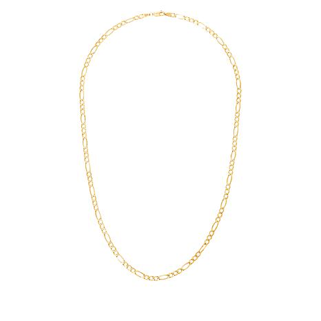 "Michael Anthony Jewelry® 10K Gold 3.9mm Figaro Chain 18"" Necklace"