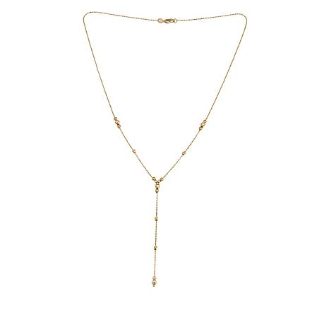 "Michael Anthony Jewelry® 10K Gold Beaded Lariat 17"" Necklace"