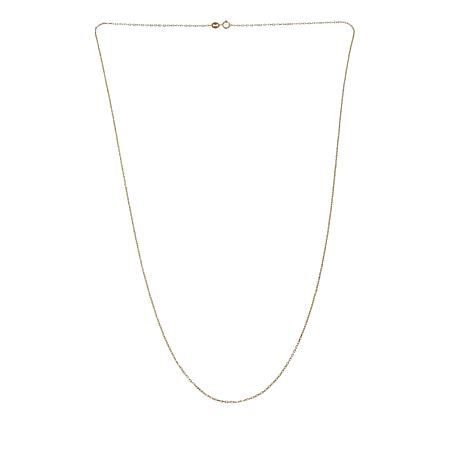 "Michael Anthony Jewelry® 10K Gold Trapesium Chain 24"" Necklace"