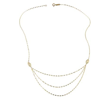 Michael Anthony Jewelry® 10K Graduated Mirror Chain Necklace