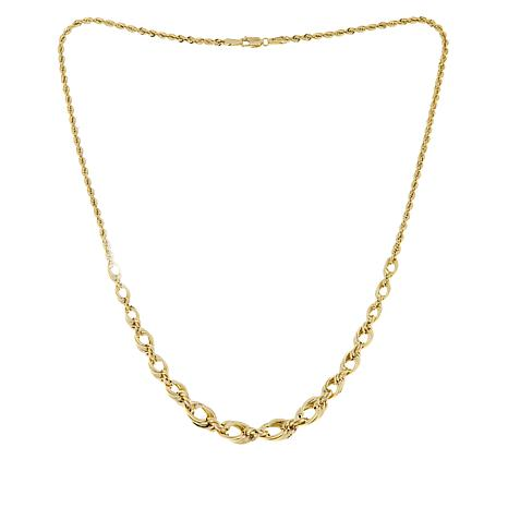 Michael Anthony Jewelry® 10K Graduated Oval Link Necklace