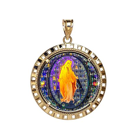 Michael Anthony Jewelry® 10K Miraculous Mary Pendant