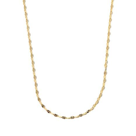 "Michael Anthony Jewelry® 10K Mirror-Link 16"" Chain"