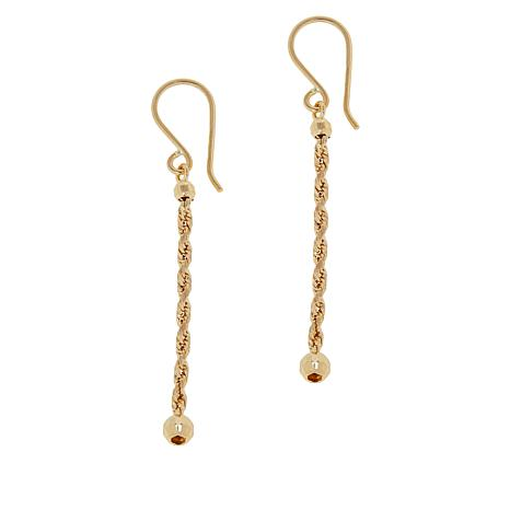 Michael Anthony Jewelry® 10K Rope and Bead Drop Earrings
