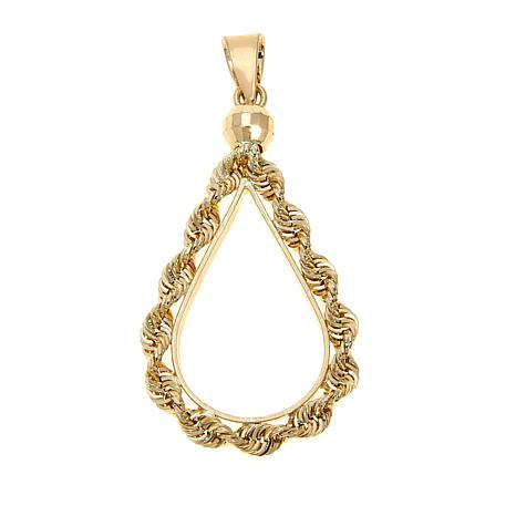 Michael Anthony Jewelry® 10K Teardrop Rope Pendant