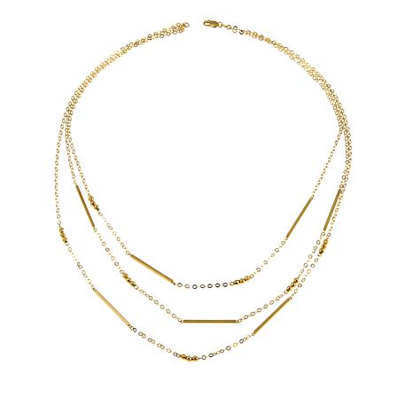 "Michael Anthony Jewelry® 10K Triple Strand 17"" Chain Necklace"