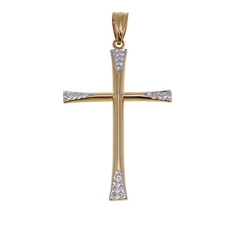 Michael Anthony Jewelry® 10K Two-Tone Cross Pendant