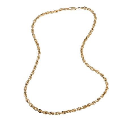 """Michael Anthony Jewelry® 14K 3mm Glitter Rope Chain Necklace - 18"""""""