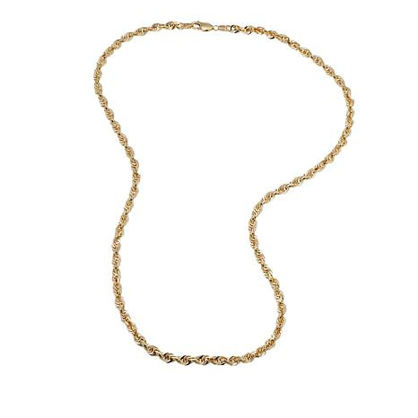 Michael Anthony Jewelry® 14K 3mm Glitter Rope Chain Necklace - 20""
