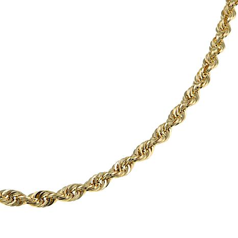 Michael Anthony Jewelry® 14K 5mm Glitter Rope Chain Necklace - 22""