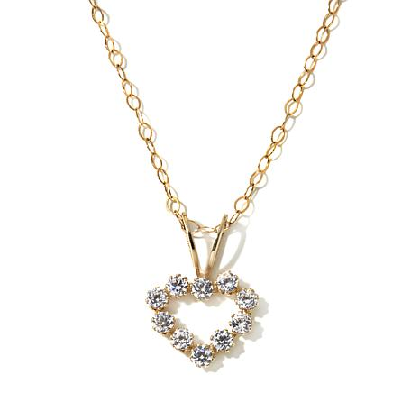 Michael Anthony Jewelry® 14K Kids CZ Heart Pendant