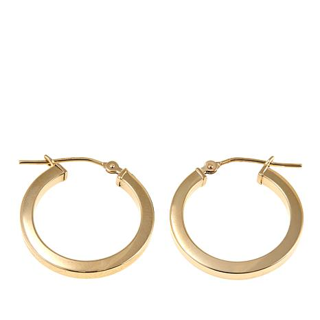 Michael Anthony Jewelry® 14K Square-Edge 25mm Hoop Earrings