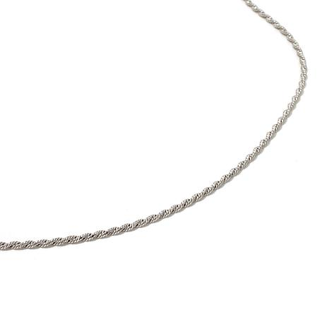"""Michael Anthony Jewelry® 1.4mm Napoli Rope 22"""" Chain"""