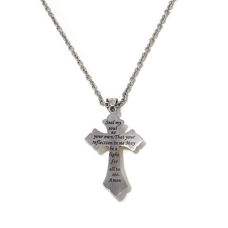 Michael anthony jewelry 2 tone nativity stone stainless steel cross michael anthony jewelry 2 tone nativity stone stainless steel cross with 1 8214796 hsn aloadofball Image collections