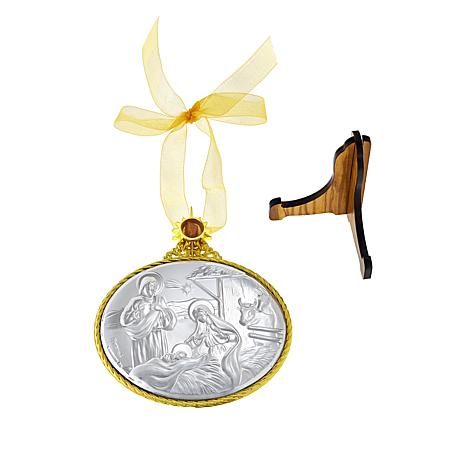 Michael Anthony Jewelry® 2-Tone Nativity Stone Ornament