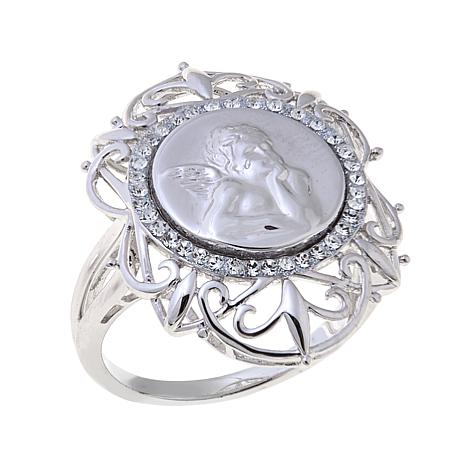 Michael Anthony Jewelry® Crystal-Accent Cherub Ring