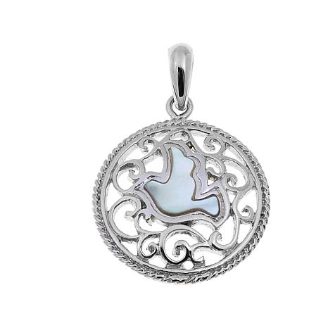 Michael Anthony Jewelry® Mother-of-Pearl Dove Pendant
