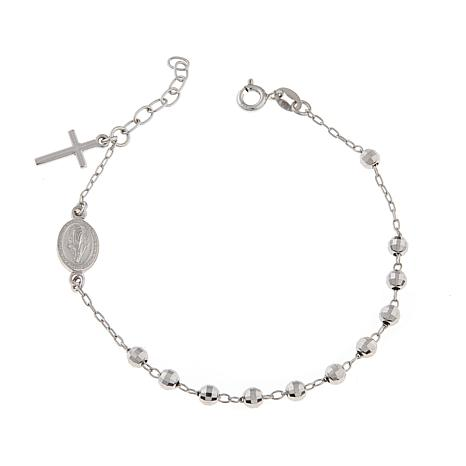 Michael Anthony Jewelry Rosary Style 7 Sterling Silver Bracelet