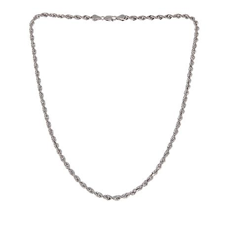 Michael Anthony Jewelry® Sterling Silver Glitter Rope Chain - 18""