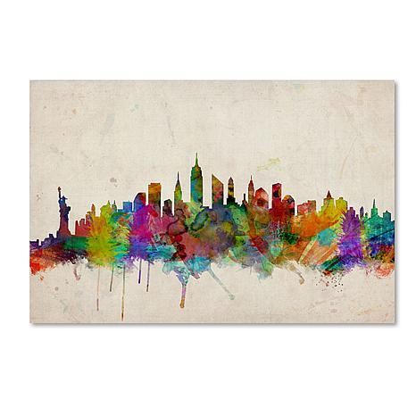 "Michael Tompsett ""New York Skyline"" Art - 30"" x 47"""