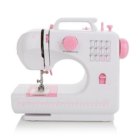 "Michley ""Lil' Sew"" 12-stitch Sewing Machine with Thread and Bobbins"