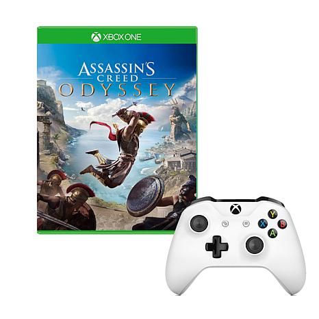 "Microsoft Xbox One S Controller with ""Assassin's Creed Odyssey"" Game"