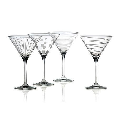 "Mikasa ""Cheers"" Martini Glasses - Set of 4"