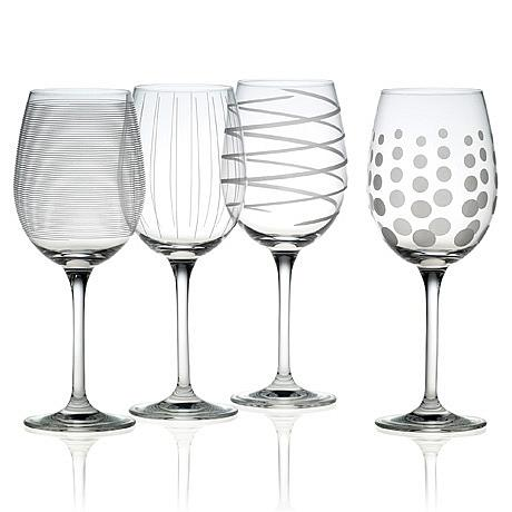 "Mikasa ""Cheers"" White Wine Glasses"