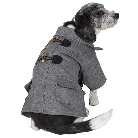 Military Static Riveted Fashion Collared Wool Pet Coat
