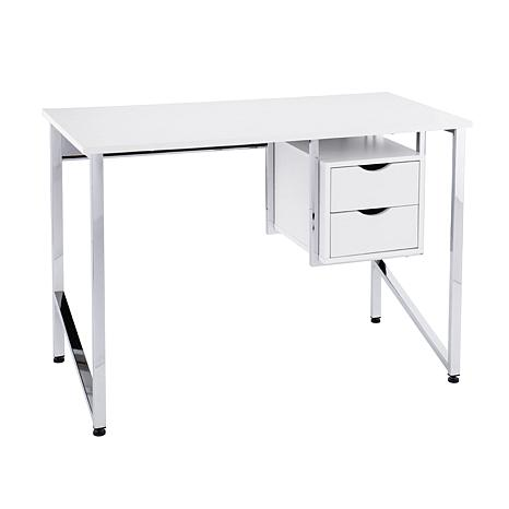 Millicent Writing Desk - White/Chrome