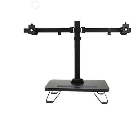Mind Reader Heavy Duty Dual Monitor Desk Mount w/ Two Adjustable Arms