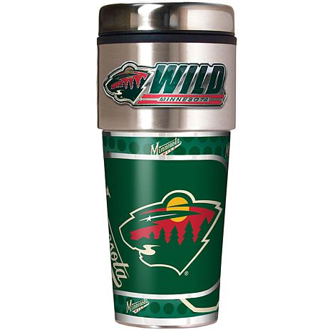 Minnesota Wild Travel Tumbler w/ Metallic Graphics and Team Logo
