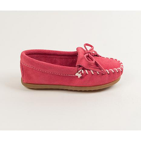 Minnetonka Child's Kilty Suede Loafer Moccasin