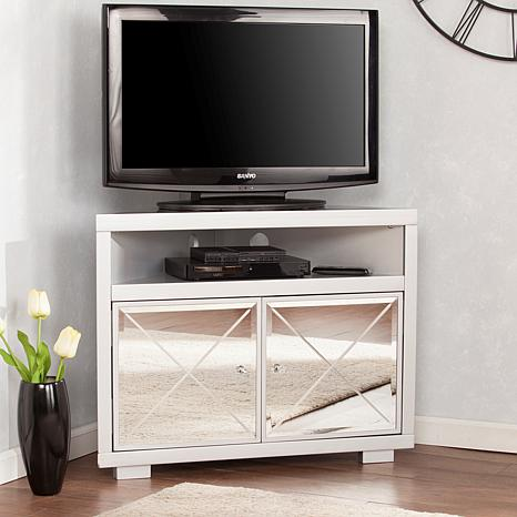 Mirage Mirrored Corner TV Stand