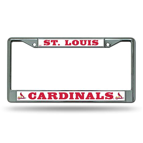 MLB Chrome License Plate Frame - Cardinals