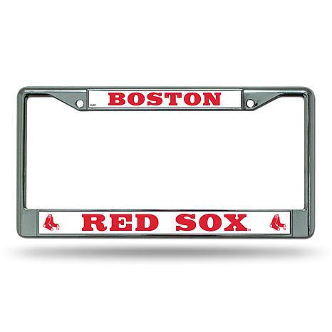 MLB Chrome License Plate Frame - Red Sox